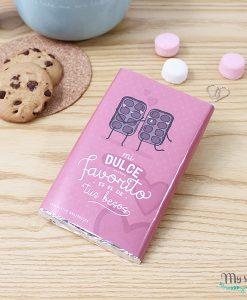 tableta de 100gramos de chocolate con diseño para enamorados
