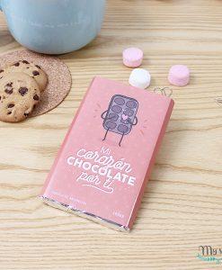 tableta de 100gr de chocolate con diseño para enamorados