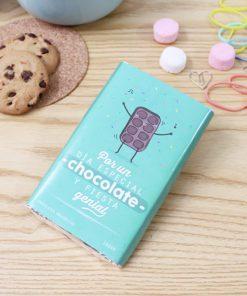 tableta de chocolate con diseño