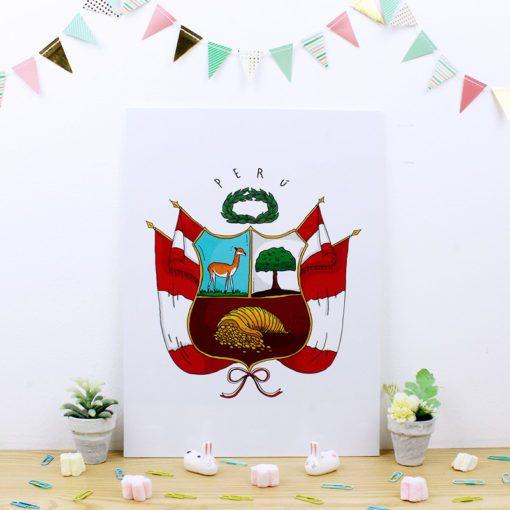 Cuadro de trúpan con ilustracion Escudo
