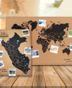 corcho mundial y peruano para decorarlo con fotos y accesorios