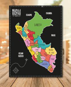 Mapa del Perú para raspar
