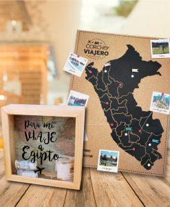 Pack de alcancia +corcho peruano viajero