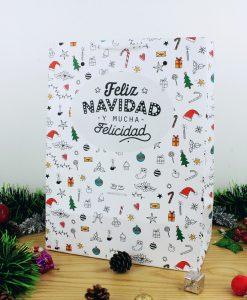 """Bolsa """"Feliz Navidad"""" para regalo"""