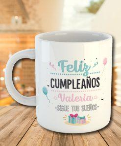 Taza personalizada con diseño para cumpleaños