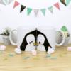 tazas pareja blancas de 11oz con diseño de pinguinos
