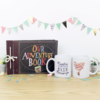 "Taza pareja + album ""our adventure book"" inspirado en la pelicula Up"