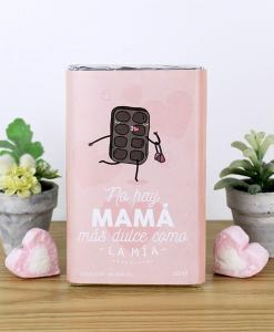 tableta de 100gr de chocolate con diseño para mamá