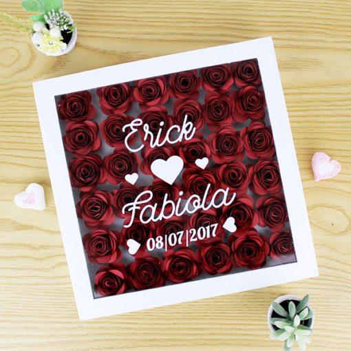 Cuadro de flores personalizado